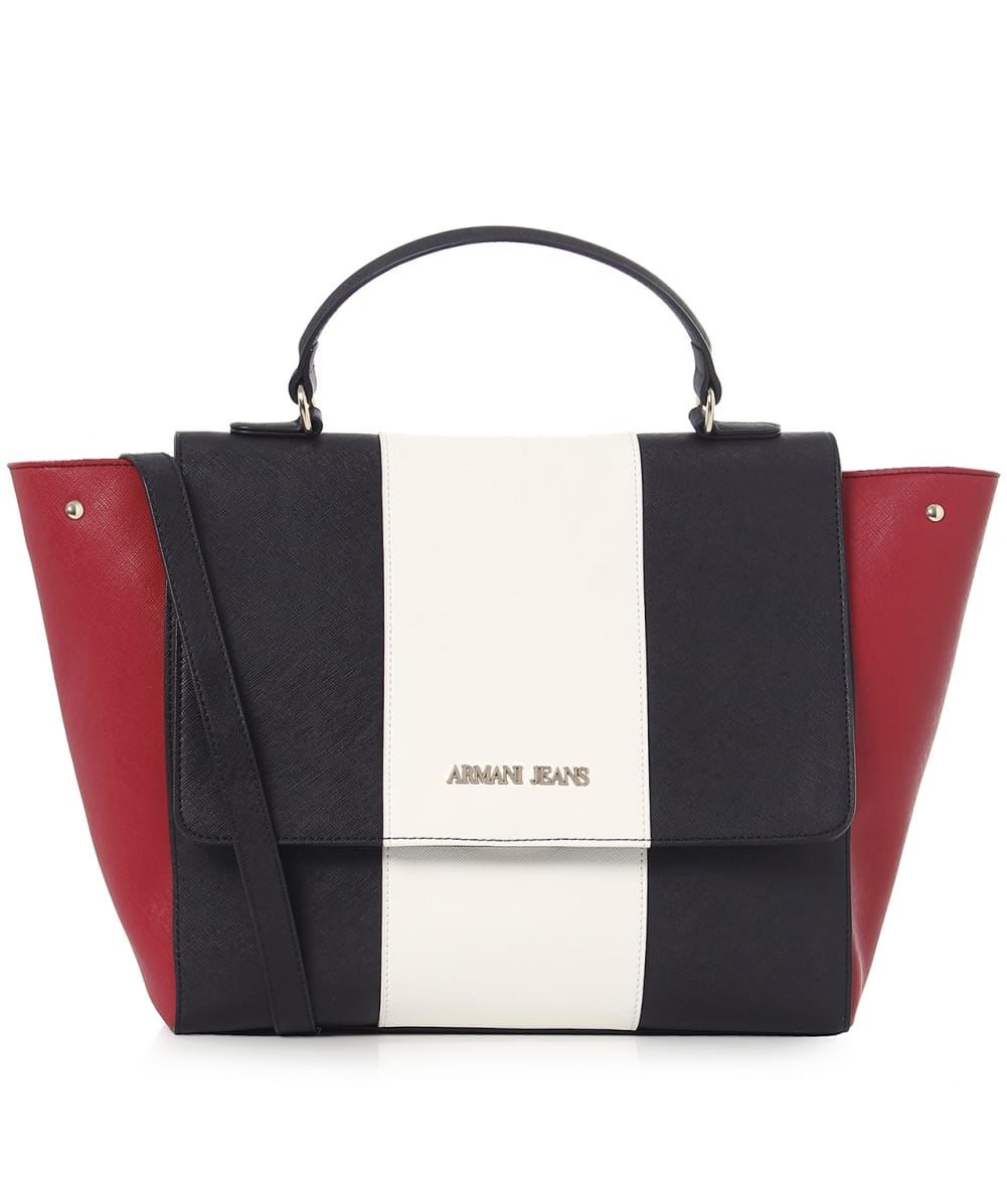 Armani Jeans Borsa Striped Tote Bag