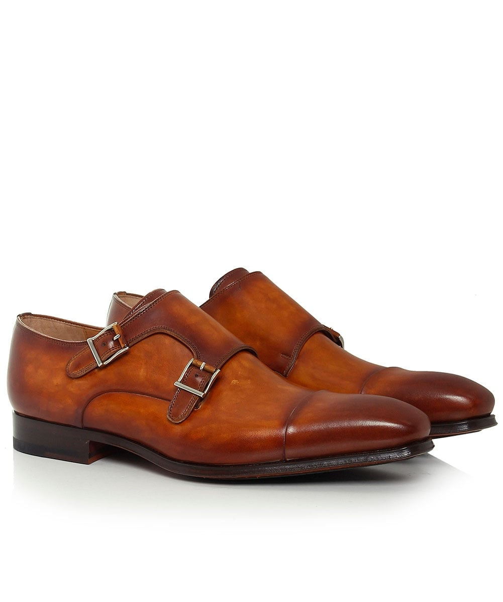 Magnanni Brown Burnished Leather Double
