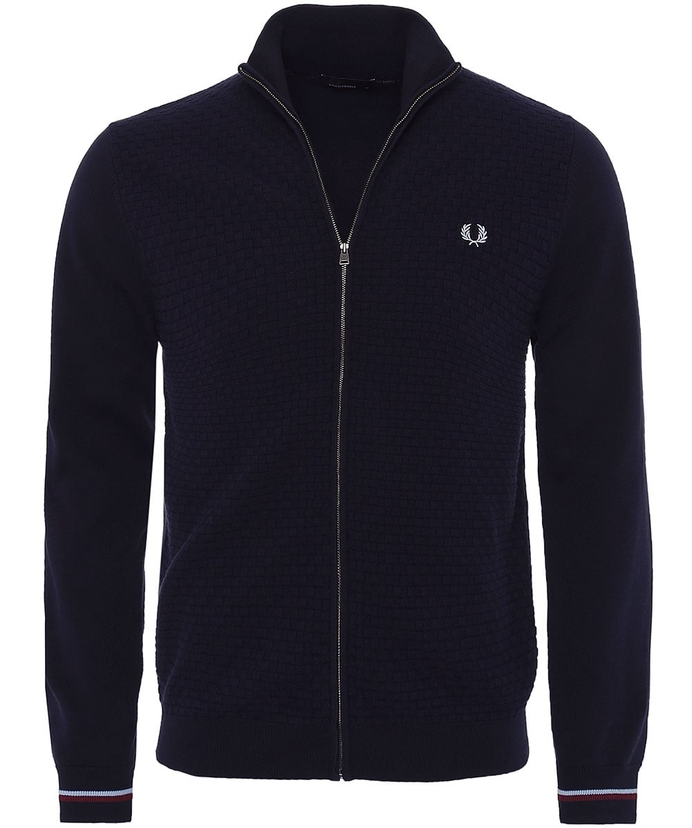 836ee0720da Fred Perry Navy Cotton Two Tone Cardigan