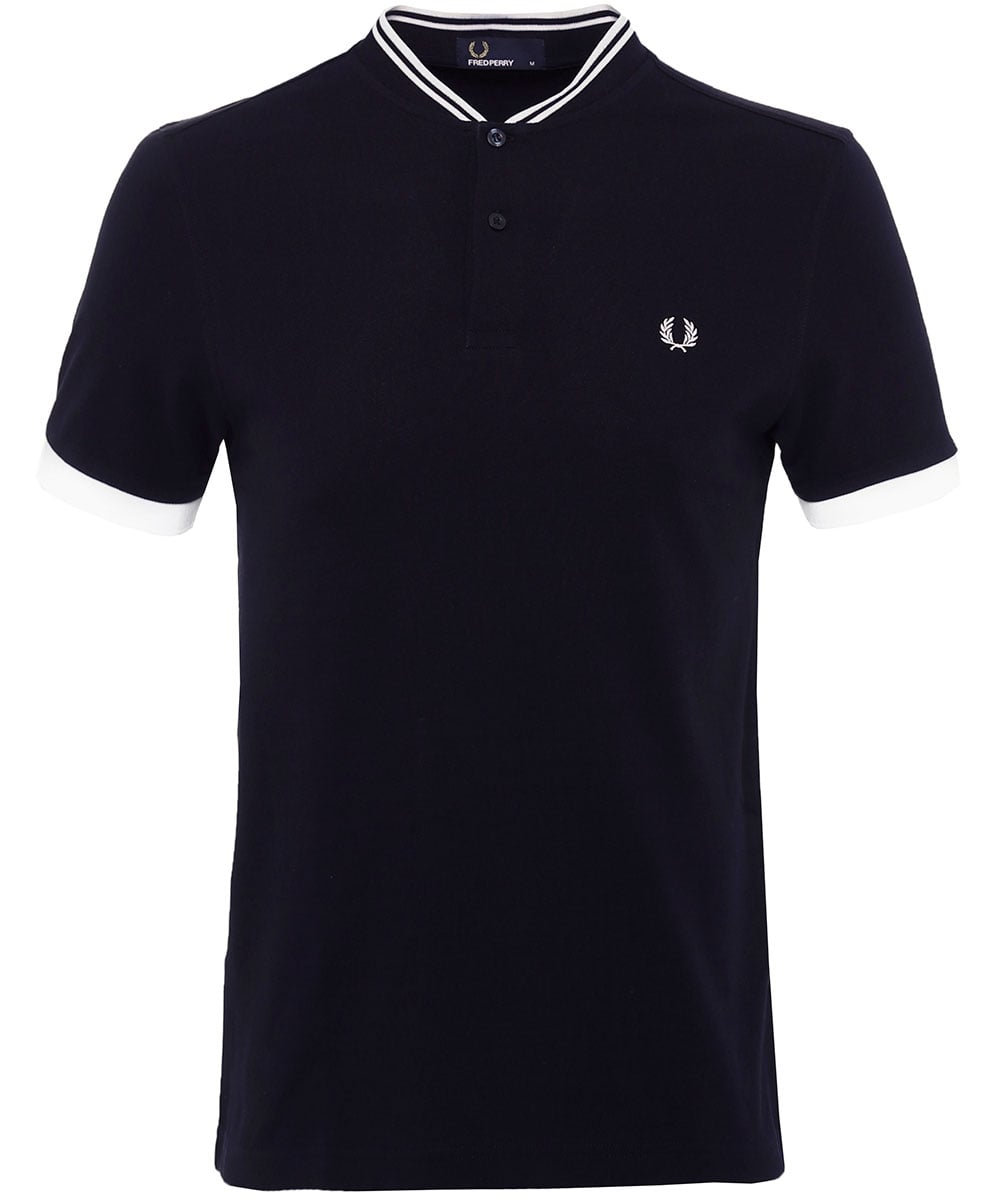 bc79b4182 Fred Perry Navy Bomber Collar Pique Polo Shirt M1568