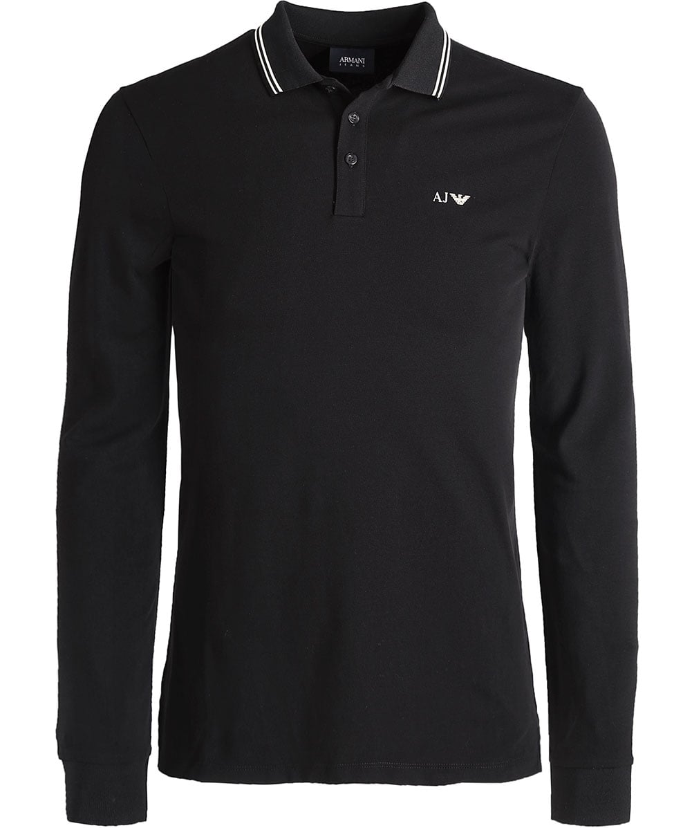 armani shirt black long sleeve