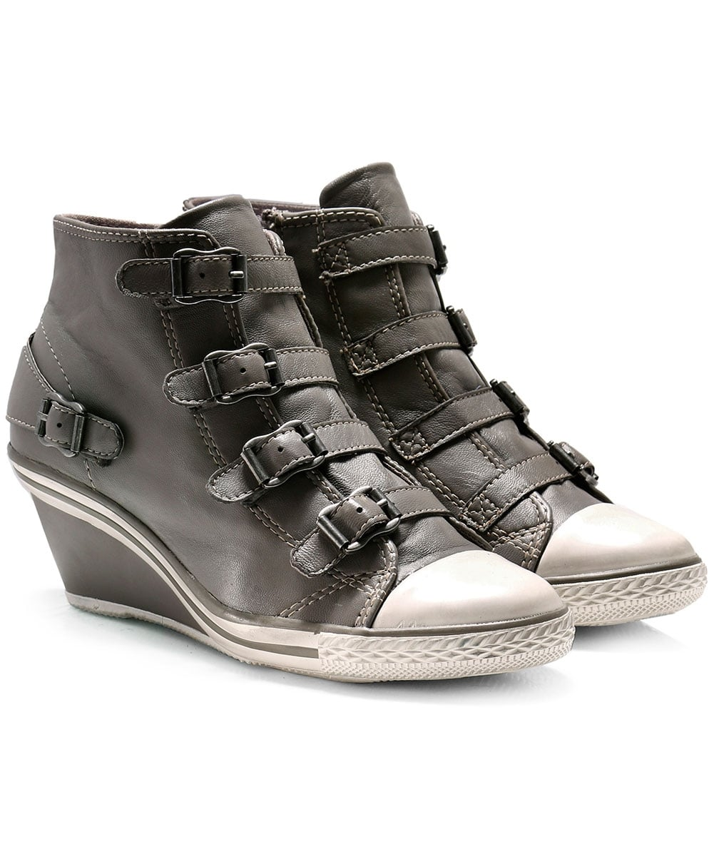 Ash Leather Genial Wedge Trainers   Jules B