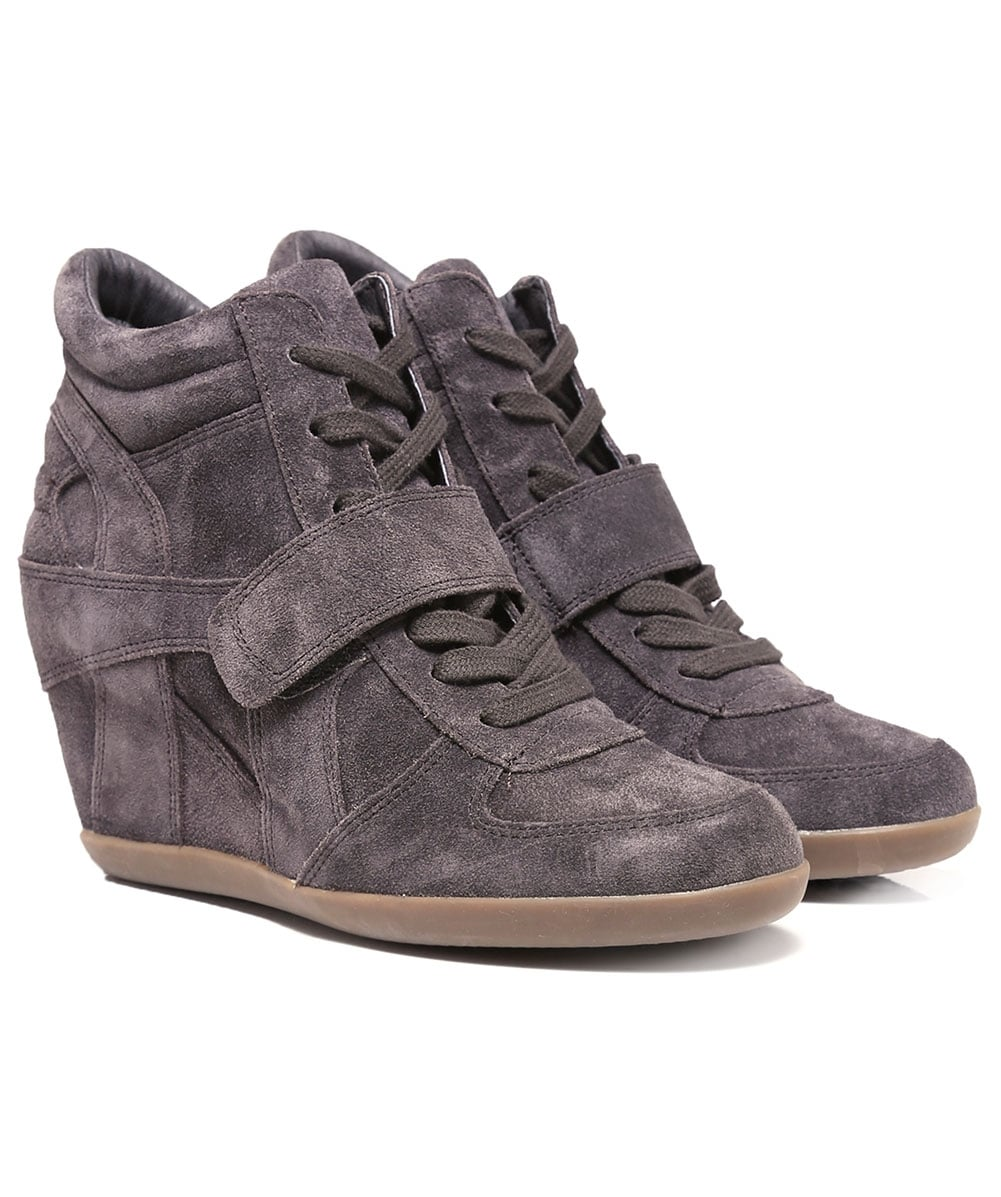 863ced3cf56d Ash Suede Bowie High Top Wedge Trainers