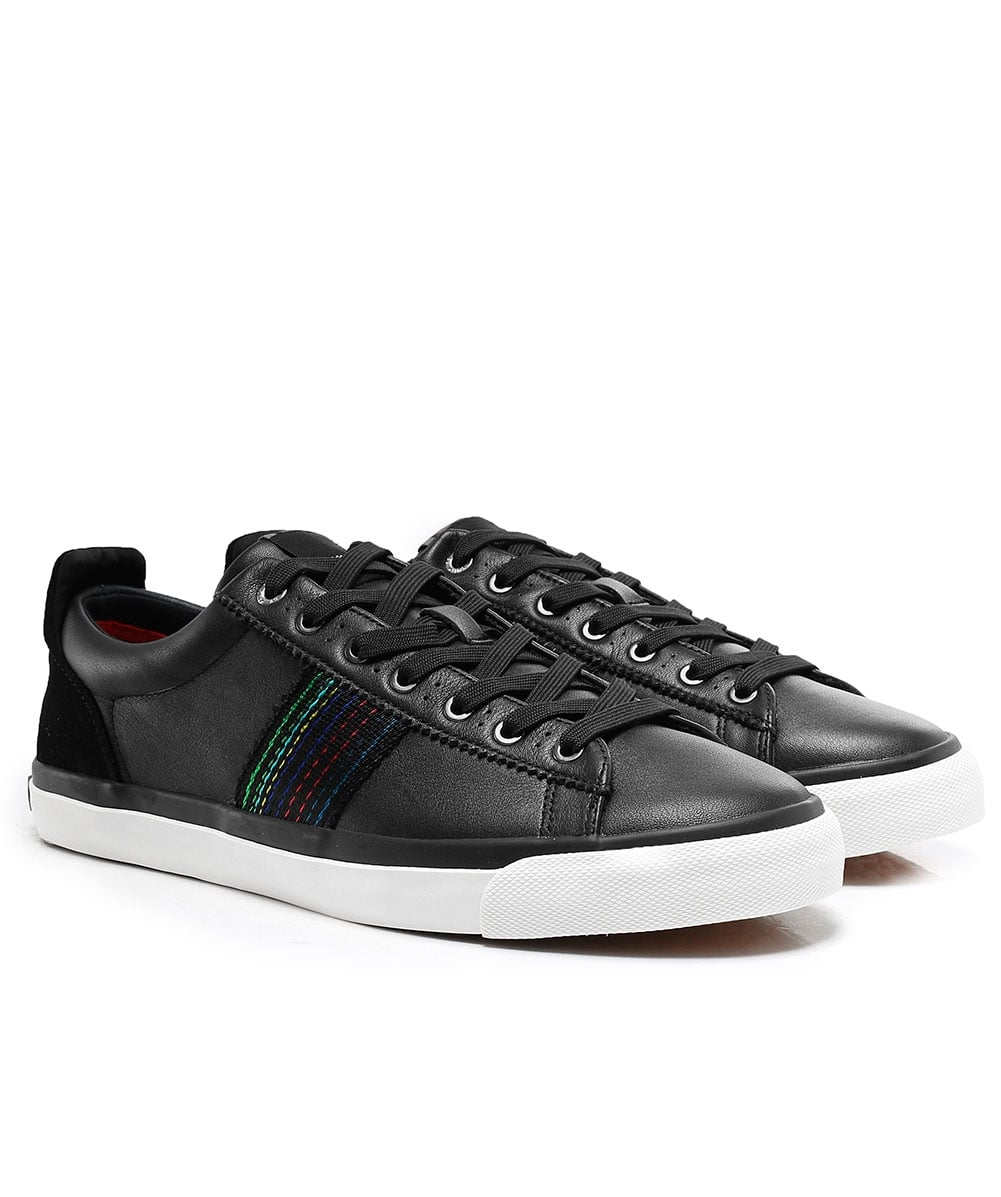 Paul Smith Black Leather Seppo Trainers