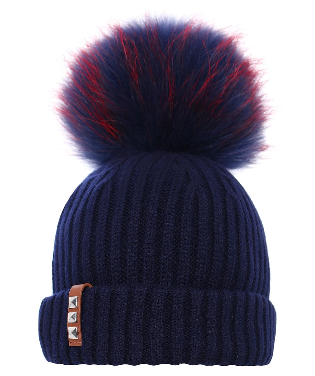BKLYN Navy Merino Wool Beanie Hat  9b485467ec9