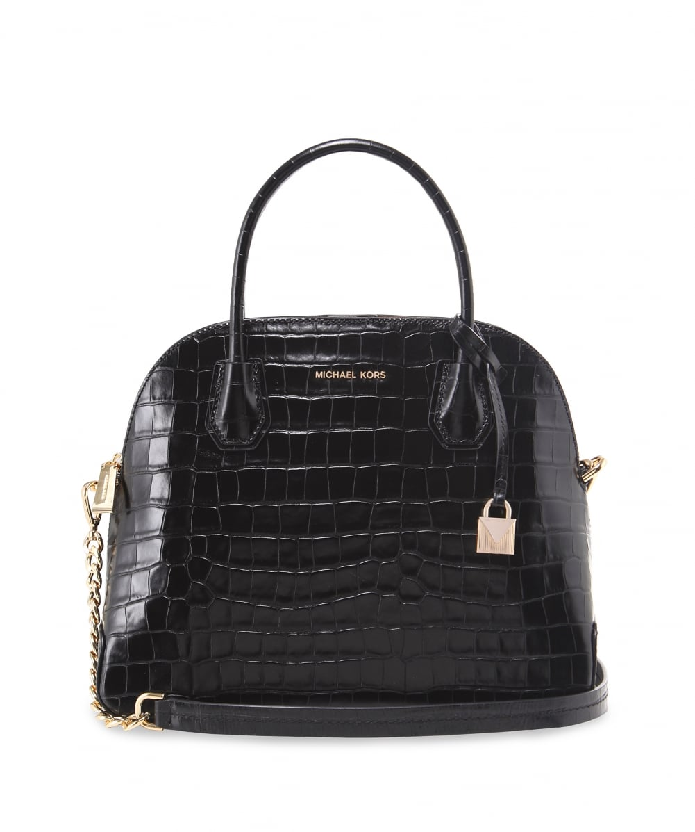 d73d15f8381f MICHAEL Michael Kors Embossed Leather Croco Dome Satchel