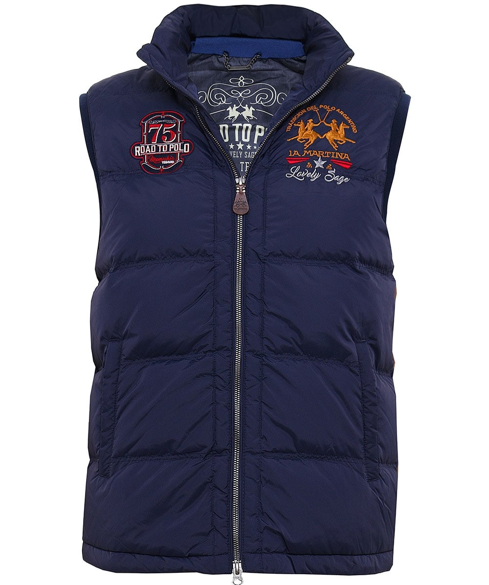 La Martina Quilted Down Gilet Jules B