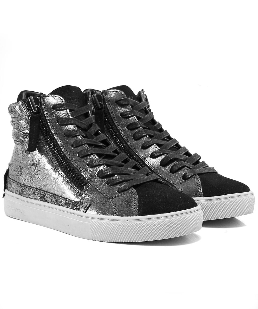 Crime London Luxury Fashion Mens 11622AA1B20 Black Hi Top Sneakers Spring Summer 19