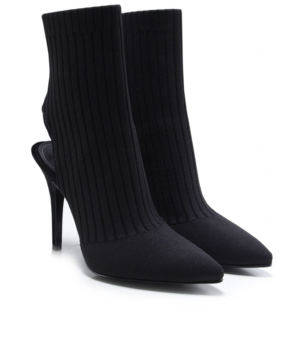 dd4d00141e2 Kendall and Kylie Black Adrian Knitted Sock Boots