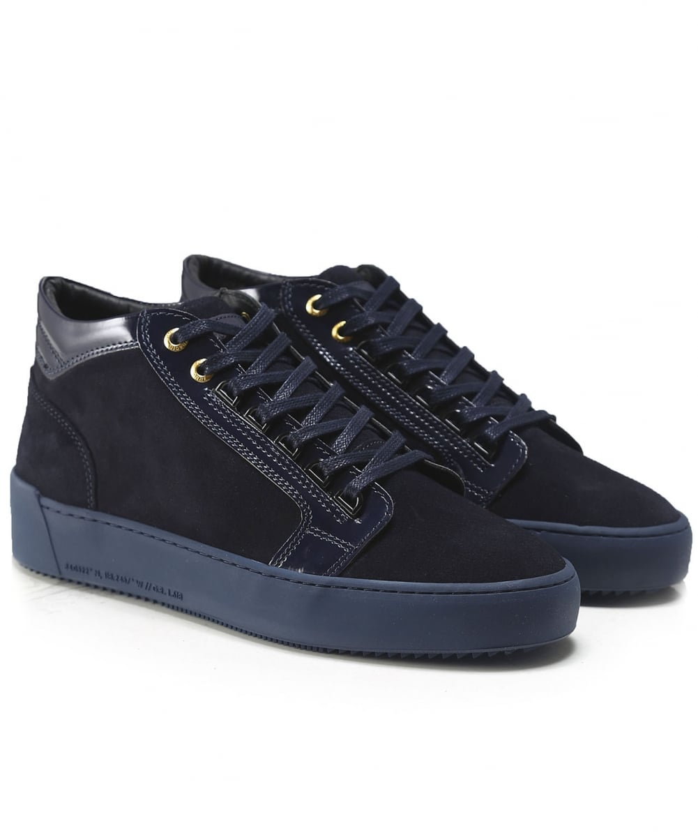 Android Homme Navy Suede Mid-Top