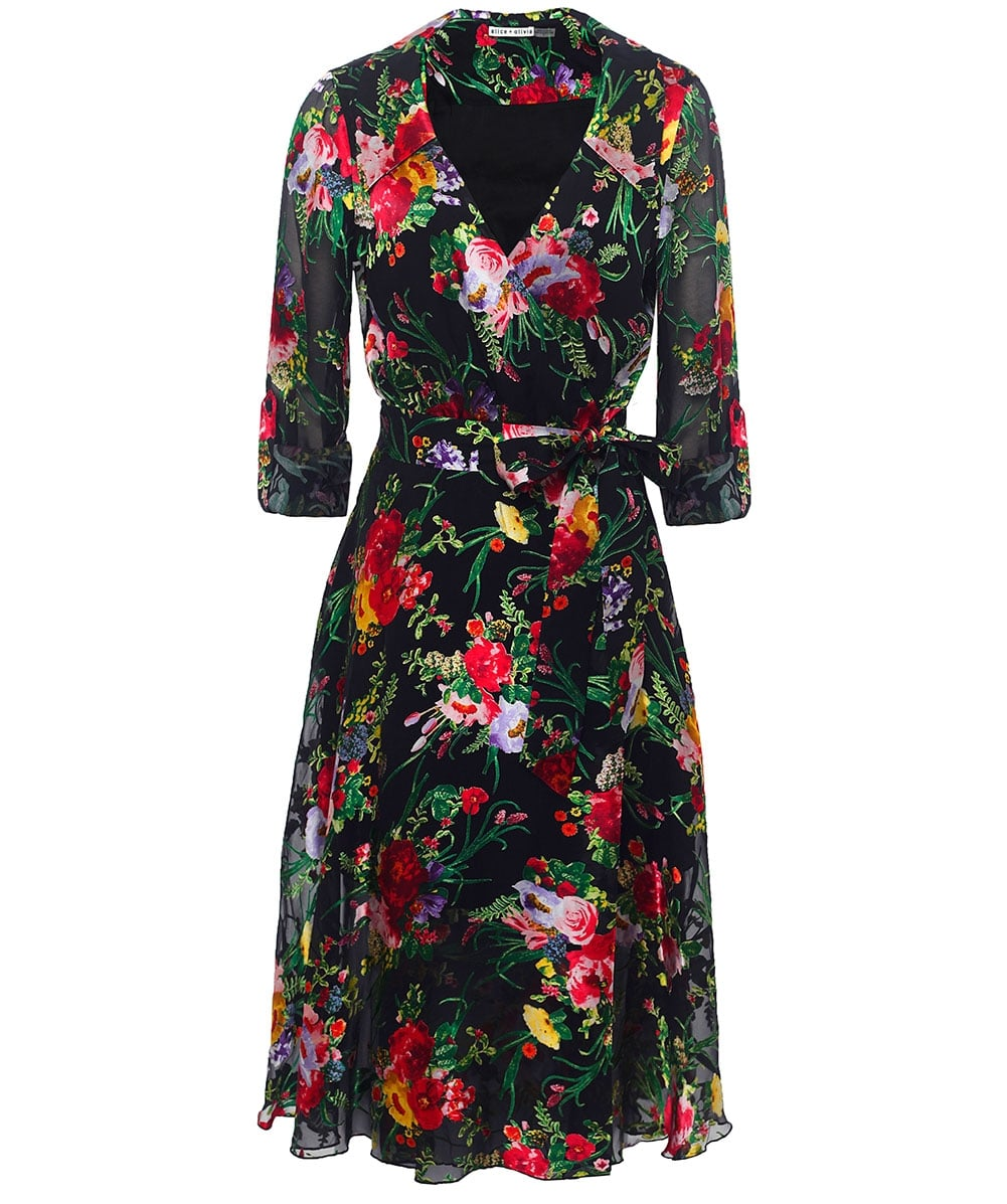 f3a6139e9c Alice and Olivia Multi Abney Wrap Shirt Dress