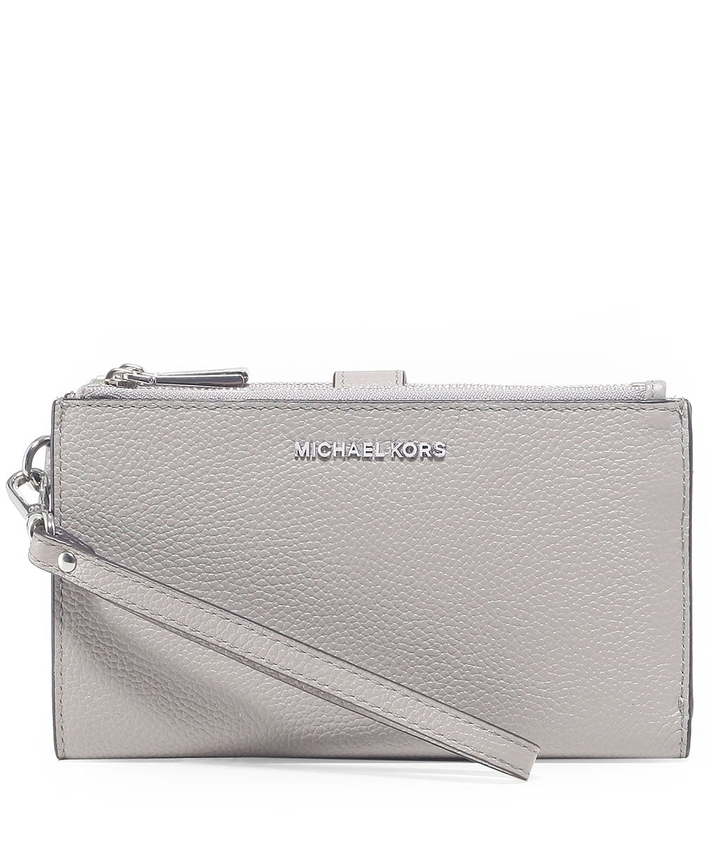 a718311fb3327 MICHAEL Michael Kors Pearl Grey Mercer Pebble Phone Wristlet