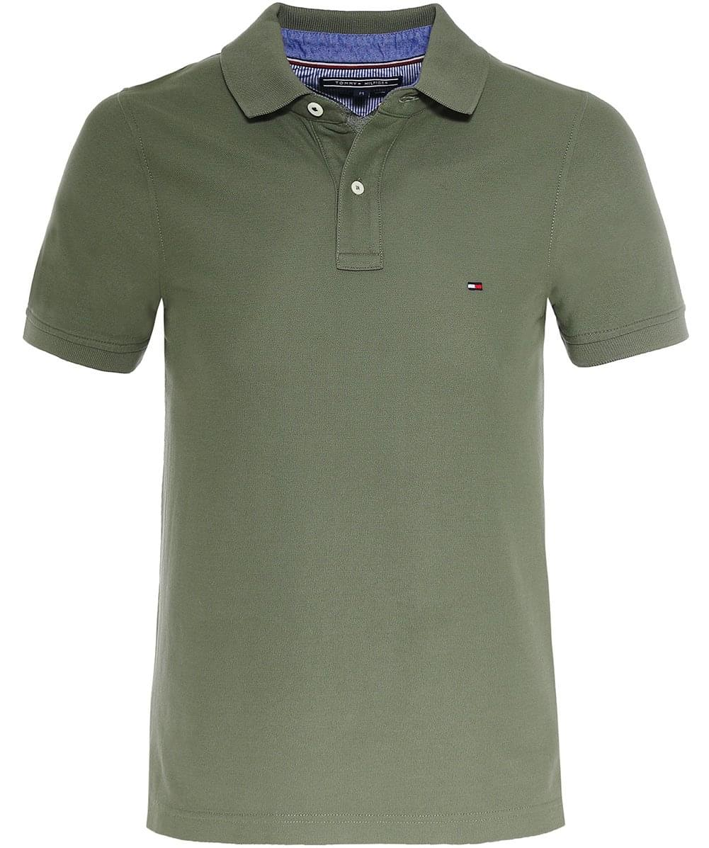 Slim fit pique polo shirt