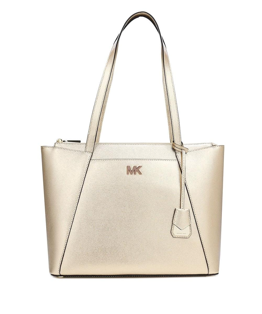57ab20adf8024 ... usa michael michael kors metallic maddie medium tote bag 93d9b d317f
