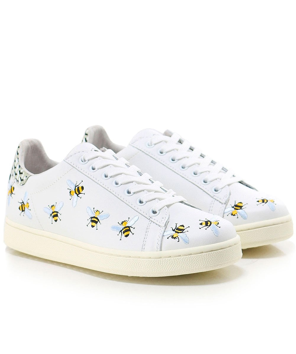 Embroidered Bee Trainers | Jules B