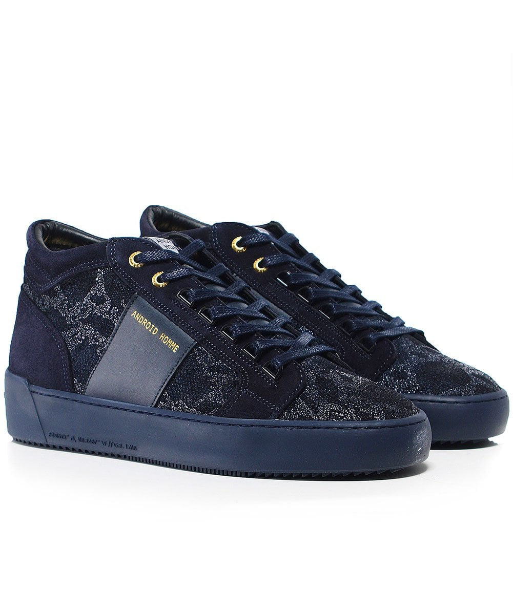 Android Homme Dark Navy Propulsion Mid Top Hybrid Python Trainers Jules B