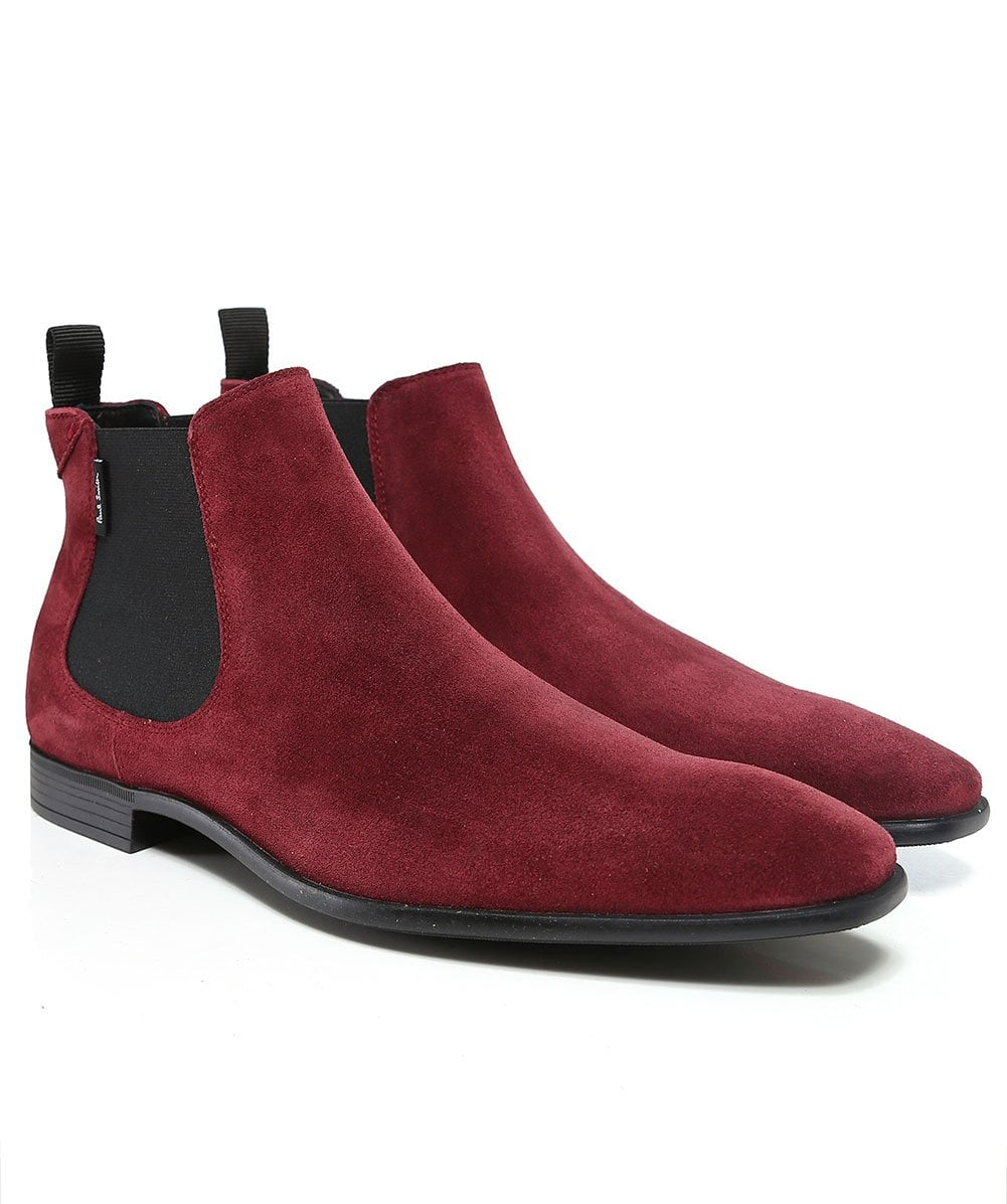 728e57b2705e PS by Paul Smith Burgundy Suede Falconer Chelsea Boots   Jules B