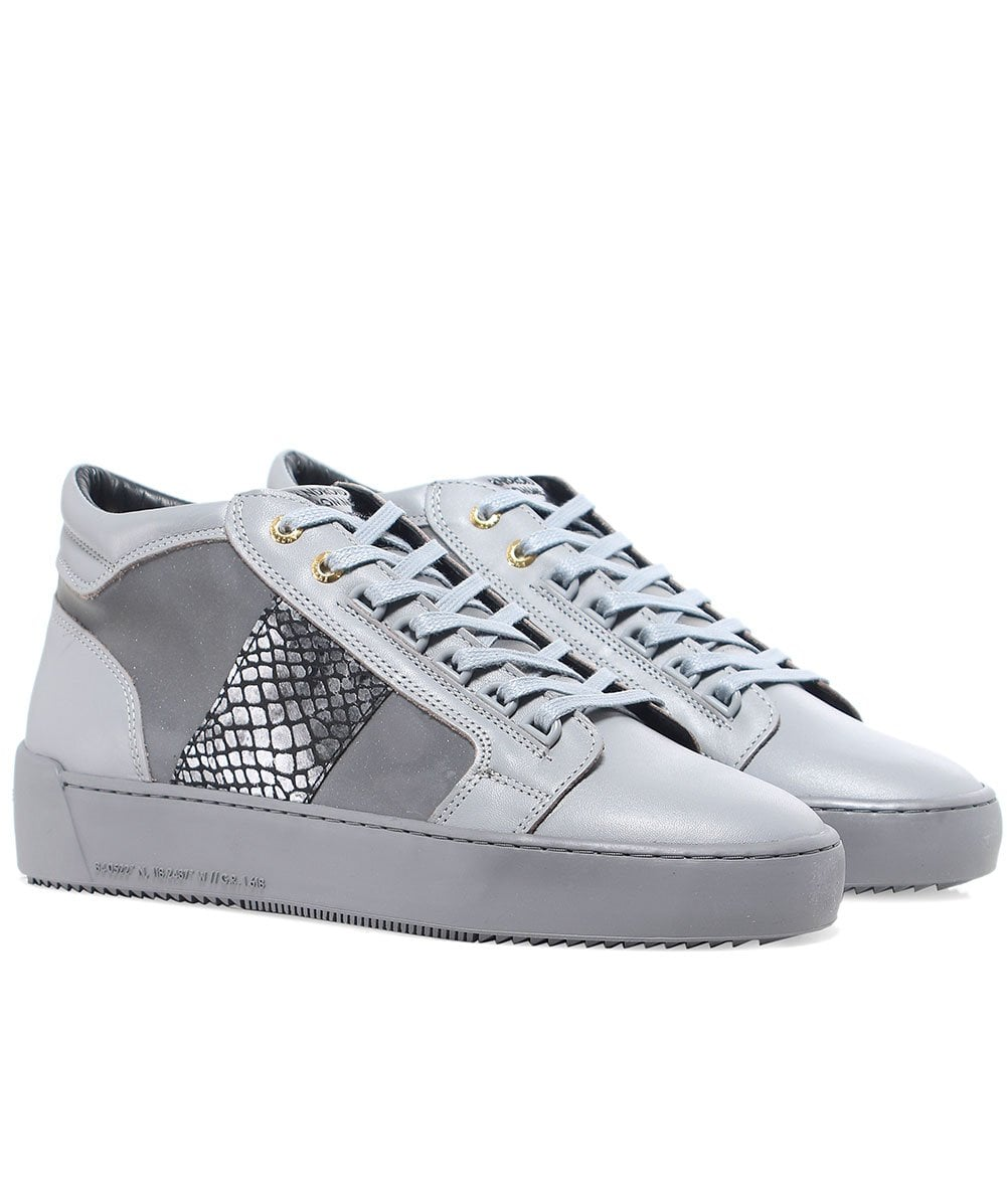 Android Homme Grey Propulsion Mid Top Mirror Python Trainers Jules B