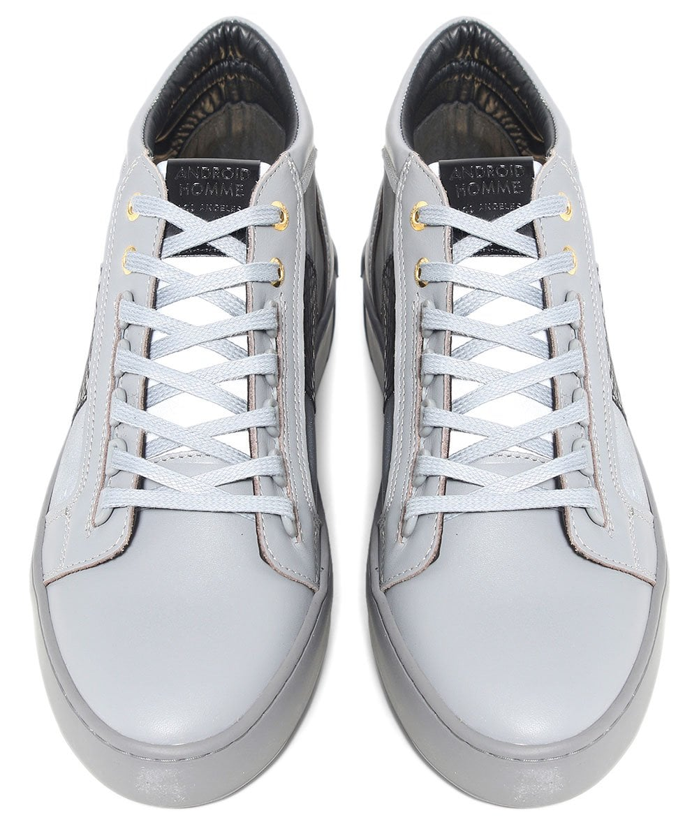 64ffb91209b9 Android Homme grey Propulsion Mid Top Mirror Python Trainers