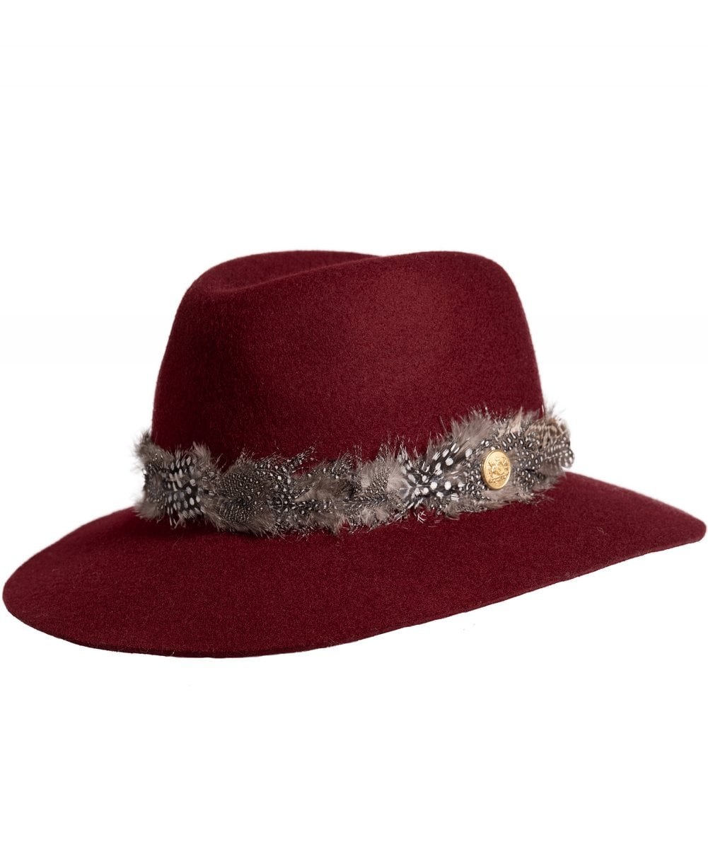 Holland Cooper Women  039 s Grayson Trilby Hat with Feather Band 2c01af72ed1
