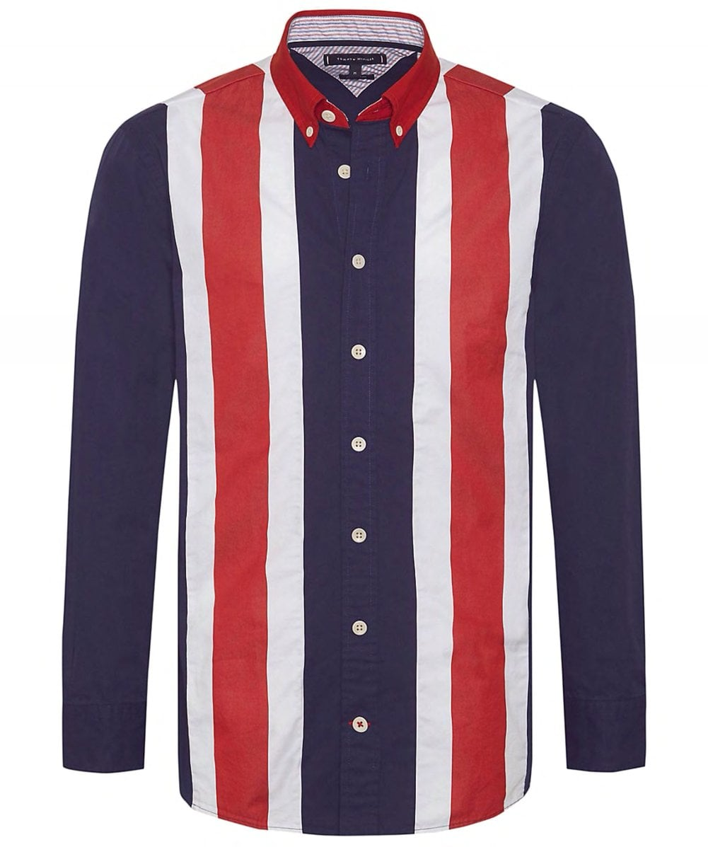 a3701ee8 Tommy Hilfiger Oversized Fit Icon Panelled Shirt   Jules B