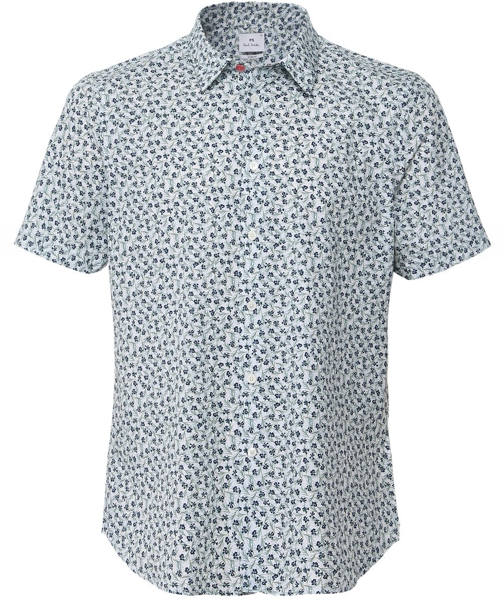 5e816c8635e5 PS by Paul Smith Slim Fit Short Sleeve Floral Shirt | Jules B