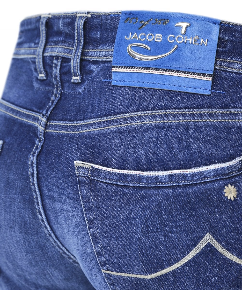 Jacob Cohen Jeans Hand Made Comfort Navy Blue