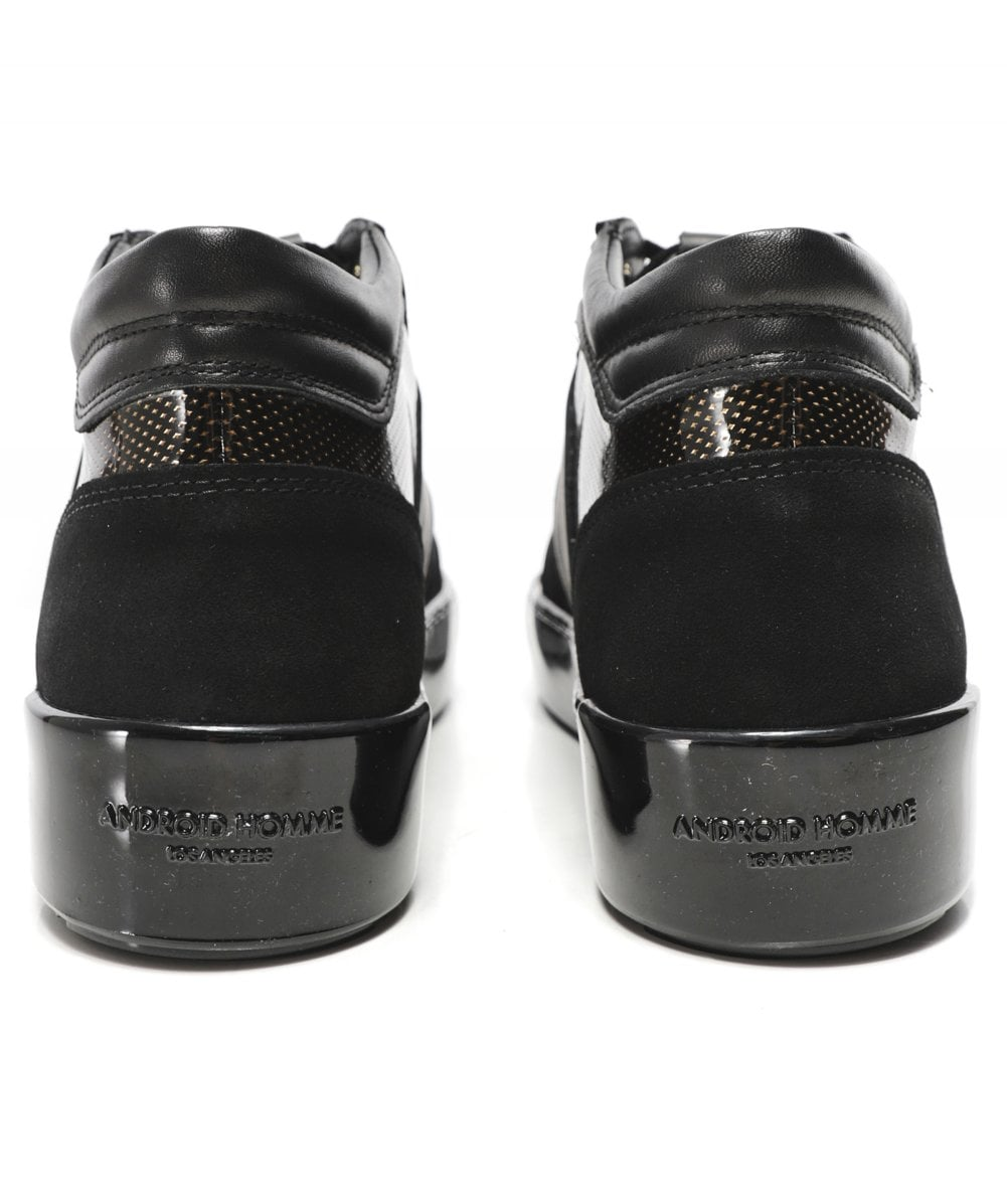 Android Homme Black Gloss Carbon Propulsion Mid Geo Trainers Jules B