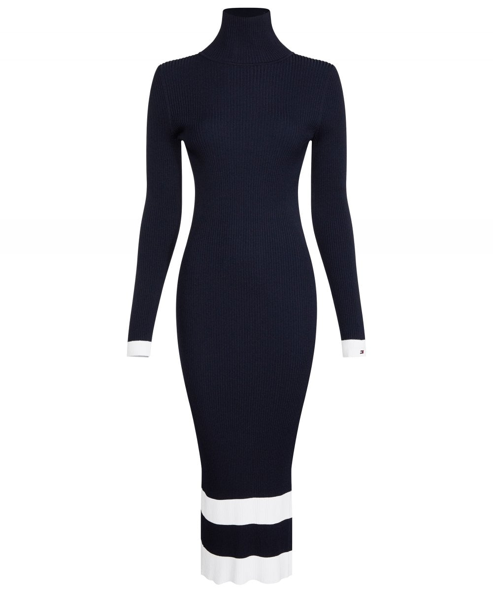 tommy hilfiger dress black and white
