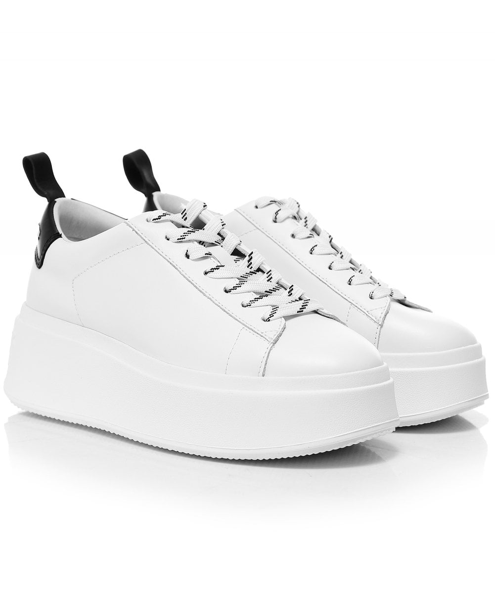 white trainers with platform