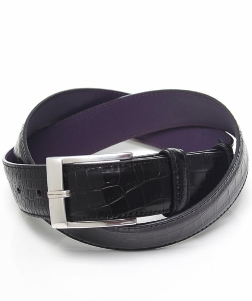 Elliot Rhodes High-Shine Mock Croc Leather Belt