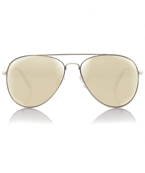 Le Specs Drop Top Gold Mirror Sunglasses