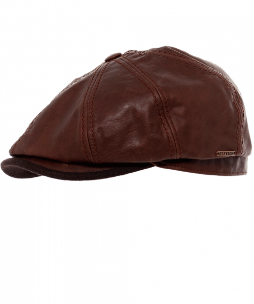 Stetson Leather Hatteras Cap