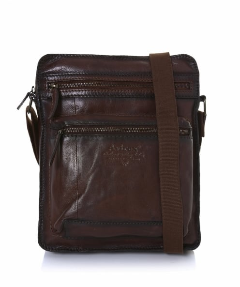 Avirex Leather Wildfire Messenger Bag