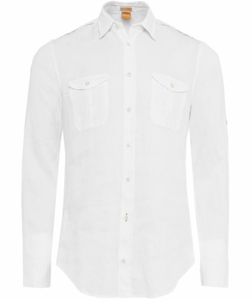 BOSS Orange Linen Cadetto Shirt