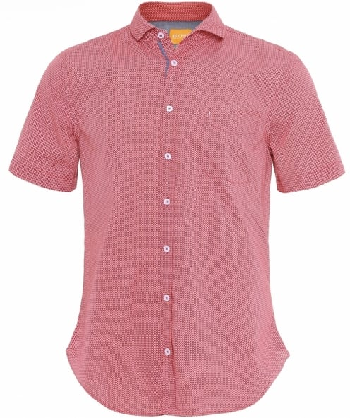 BOSS Orange Slim Fit Short Sleeve Cattitude Shirt