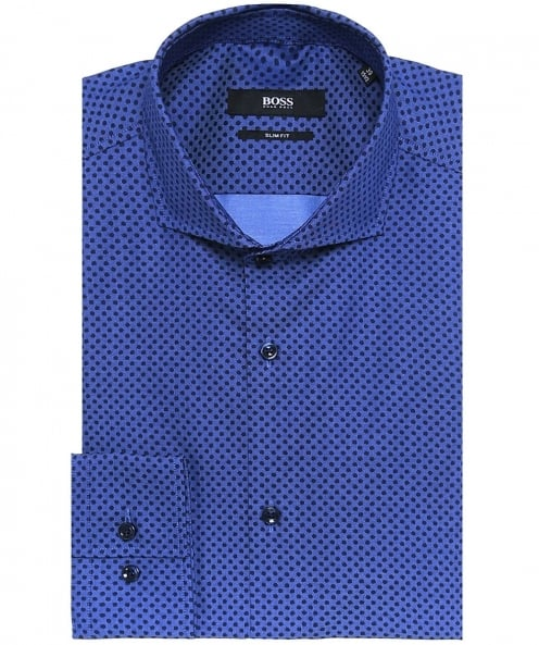BOSS Slim Fit Jason Polka Dot Shirt