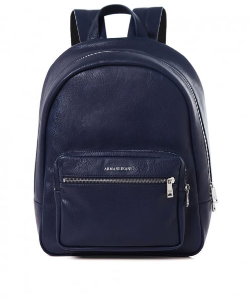 Armani Jeans Faux Leather Backpack