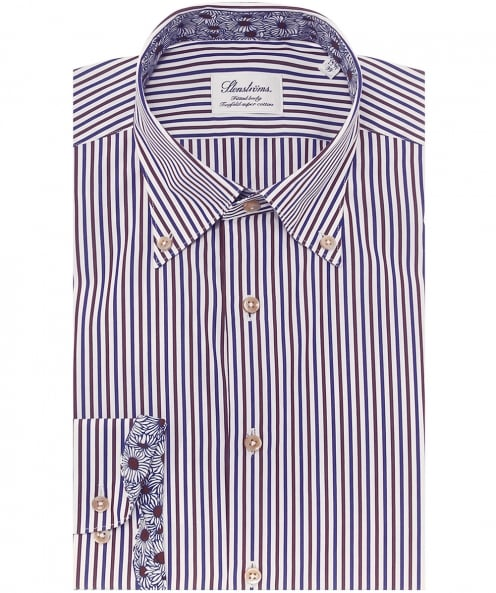Stenstroms Fitted Striped Shirt