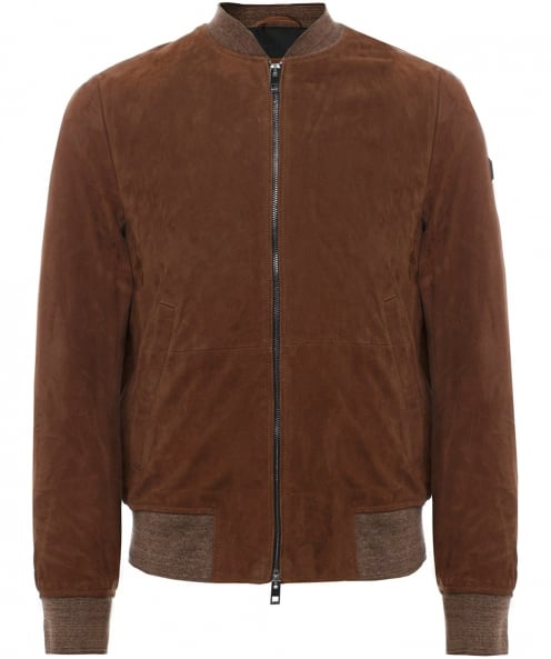 BOSS Suede Bomber Jacket