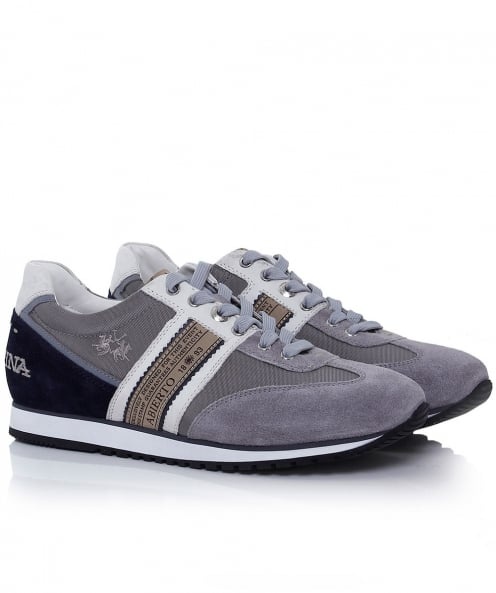 La Martina Leather Camoscio Thesi Trainers