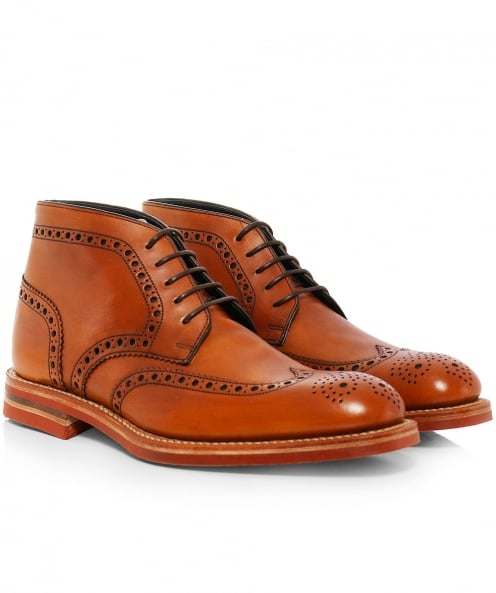 Loake Calf Leather Reading Derby Boots