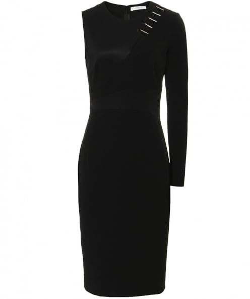Versace Collection Asymmetric One Sleeve Dress