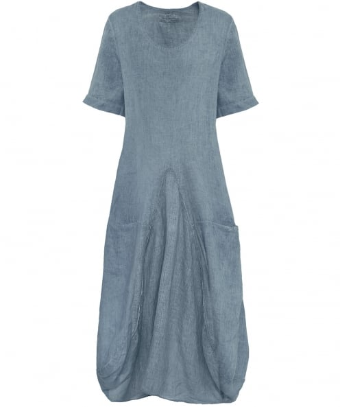 Grizas Panelled Linen Dress