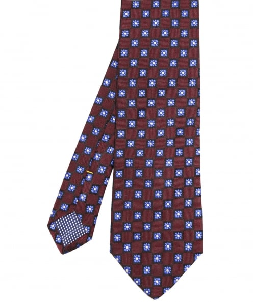 Eton Silk Flower Patterned Tie