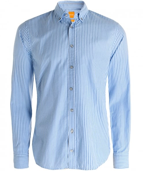 BOSS Orange Slim Fit Epreppy Striped Shirt