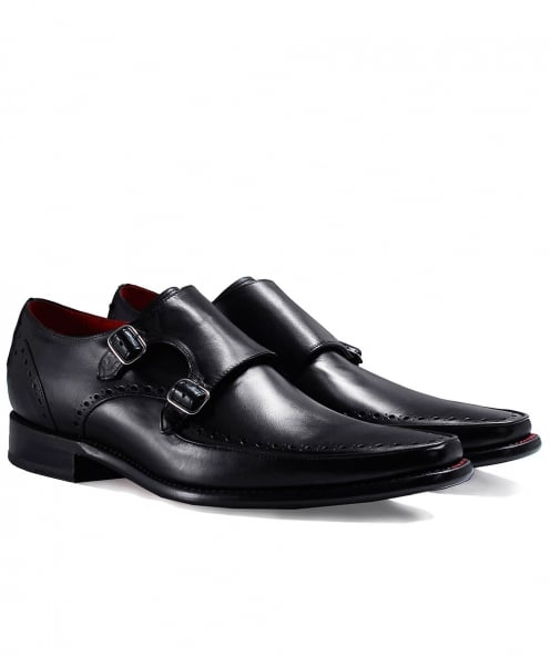 Jeffery-West Leather Jazz Melly Monk Strap Shoes
