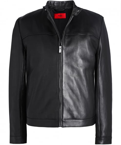 HUGO Leather Luckas Biker Jacket