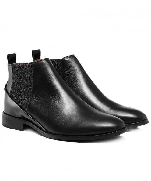 H by Hudson Leather Norman Low Chelsea Boots