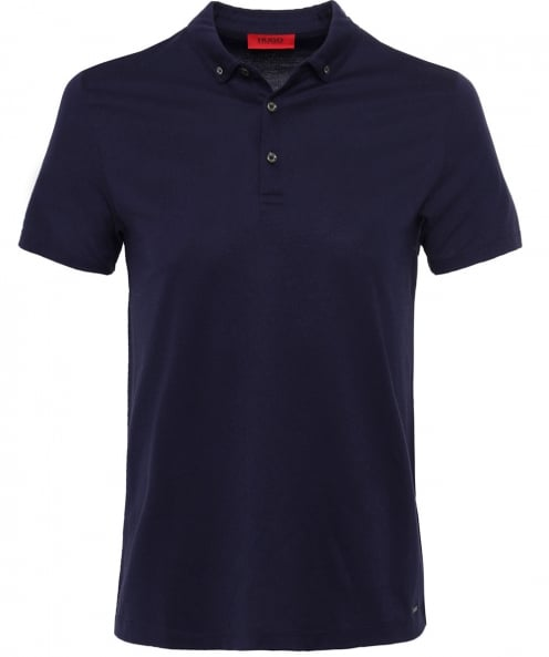 HUGO Jacquard Cotton Delson Polo Shirt